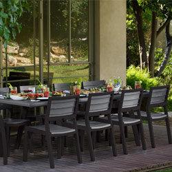 Salon de jardin harmony gris anthracite keter