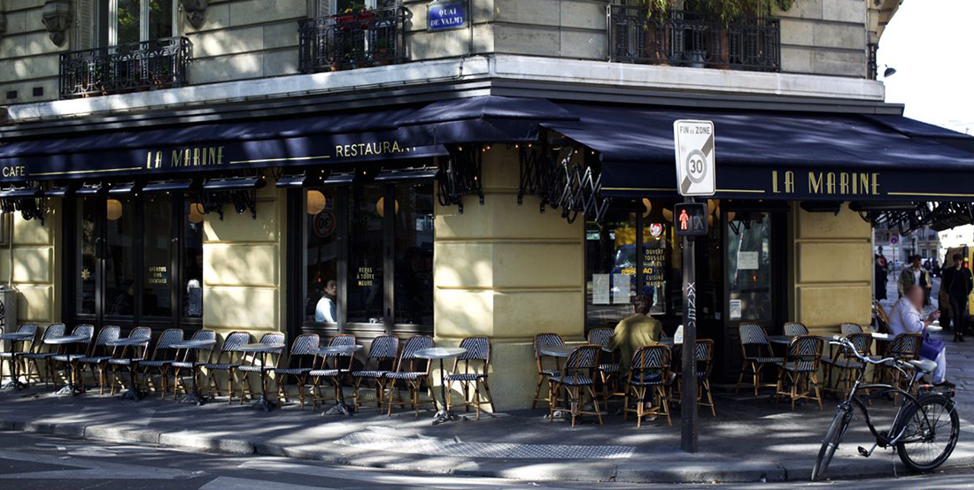 Bar terrasse quai de valmy