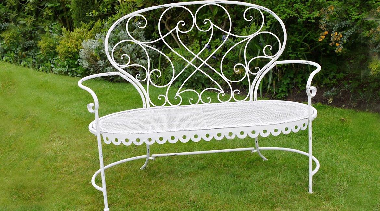 salon de jardin en fer forg romantique jardin. Black Bedroom Furniture Sets. Home Design Ideas