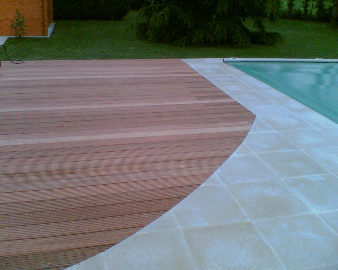 Terrasse mixte bois et composite