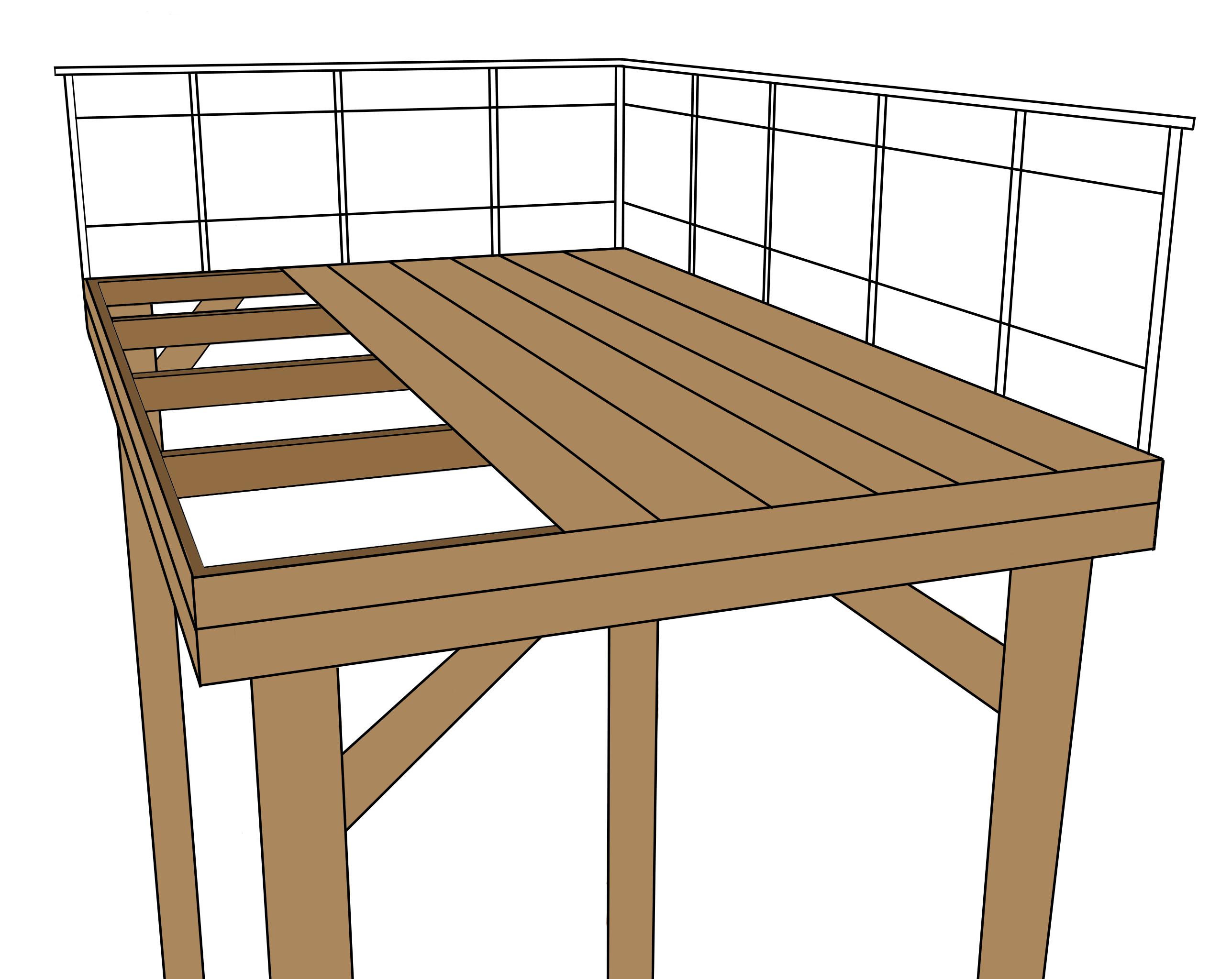 Poser une terrasse en bois sur pilotis