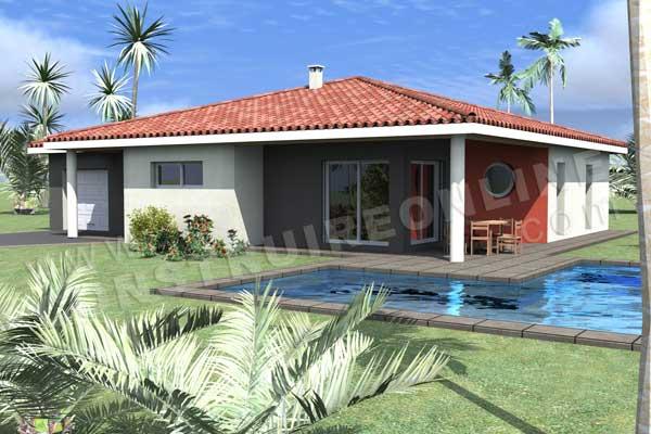 Terrasse couverte maison plain pied