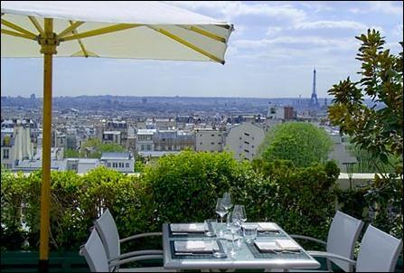 Terrasse hotel montmartre