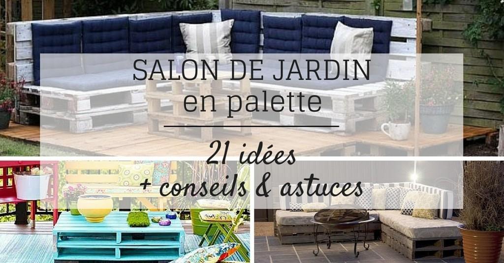 Salon de jardin fabriqué avec des palettes