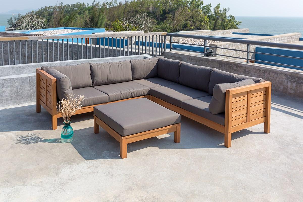 Table modulable style industriel en bois et métal Fairhaven
