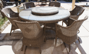 Salon de jardin en resine table ronde - Mailleraye.fr jardin