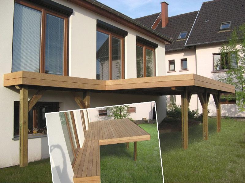 Terrasse bois sur pilotis en kit