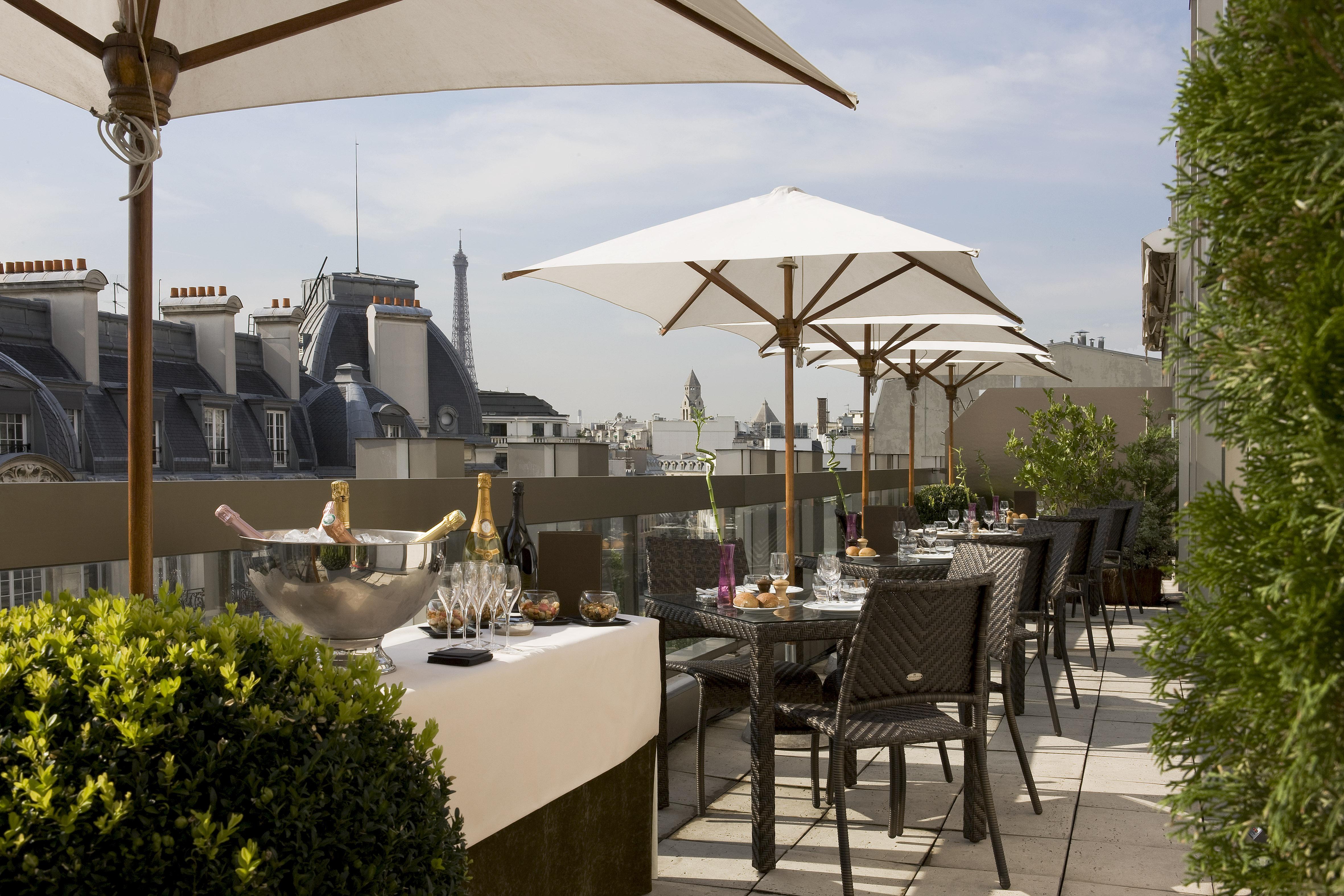 Restaurant paris avec terrasse toit