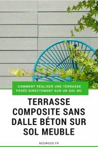 Terrasse composite sans plot