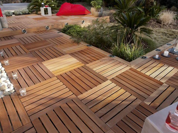 Dalle de terrasse bois composite leroy merlin