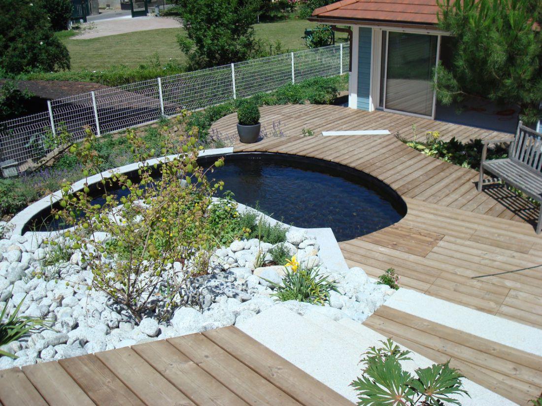 Terrasse jardin bois