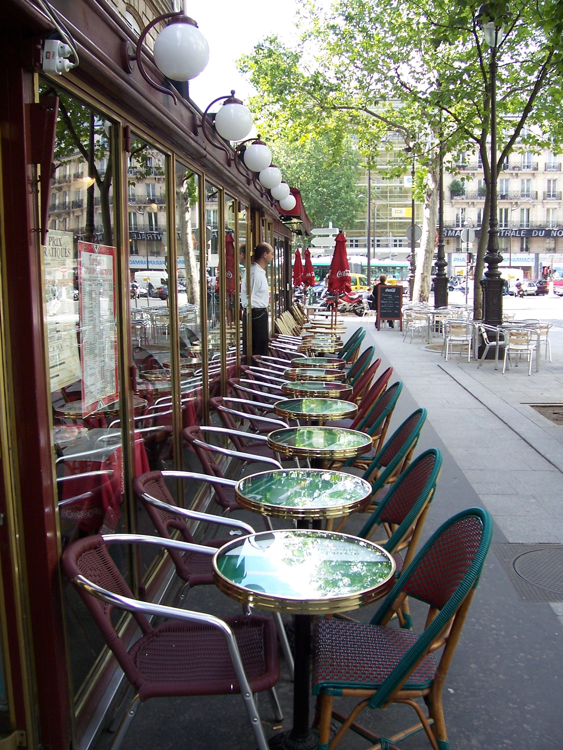 Terrasse of café