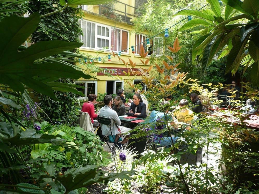 Terrasse jardin bar paris