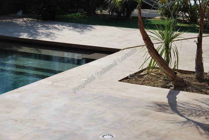 Terrasse beton ciré antidérapant