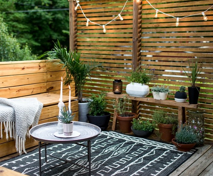 Terrasse zen bois
