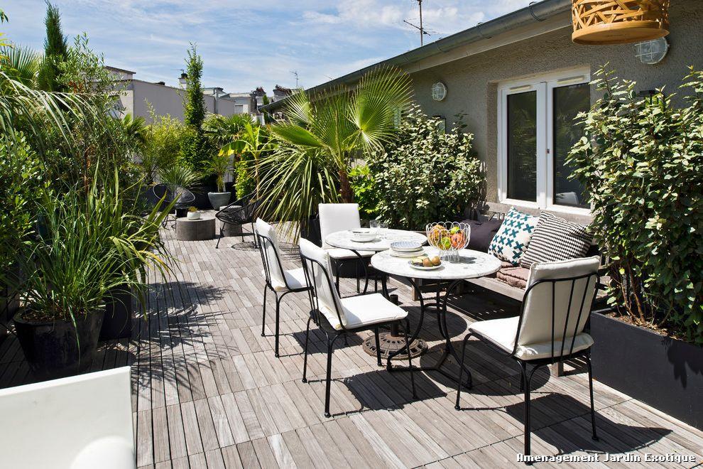 Balcon contemporain terrasse - Mailleraye.fr jardin