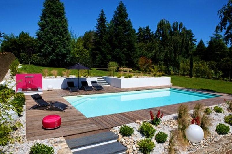Terrasse Jardin Avec Piscine Mailleraye Fr Jardin