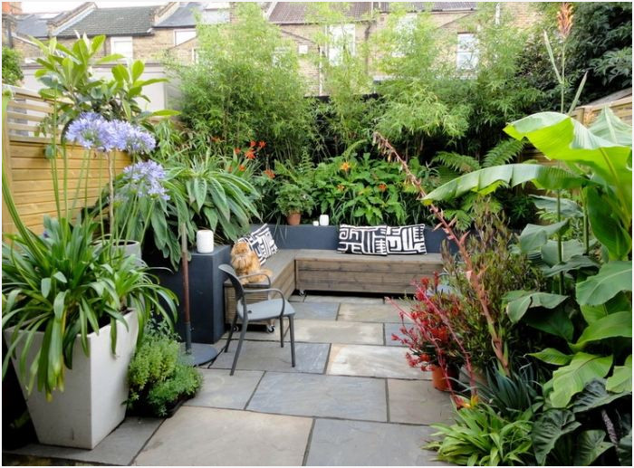 Terrasse et petit jardin - Mailleraye.fr jardin