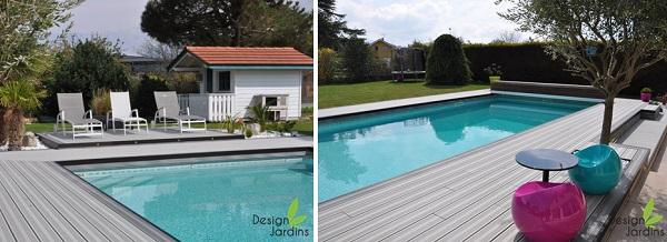 Grande terrasse autour de la piscine
