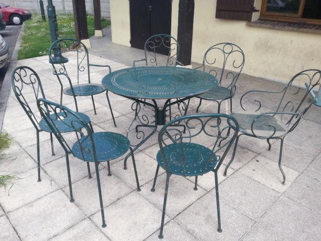 Salon de jardin fer forgé vieilli - Mailleraye.fr jardin