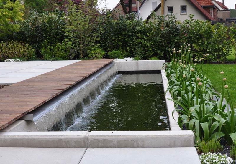 Wasserbecken terrasse beton
