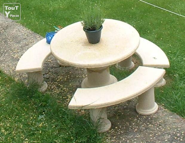 Salon jardin pierre solde - Mailleraye.fr jardin