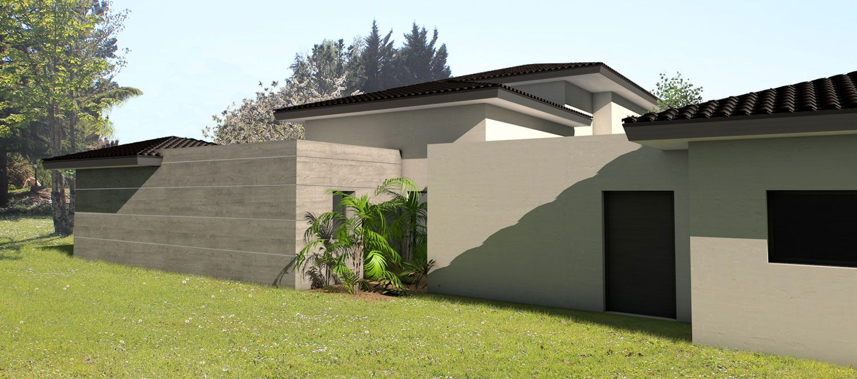 Terrasse couverte en tuile
