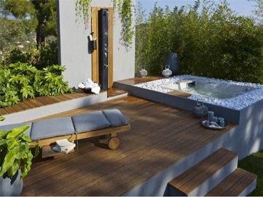 Terrasse carrelage zen