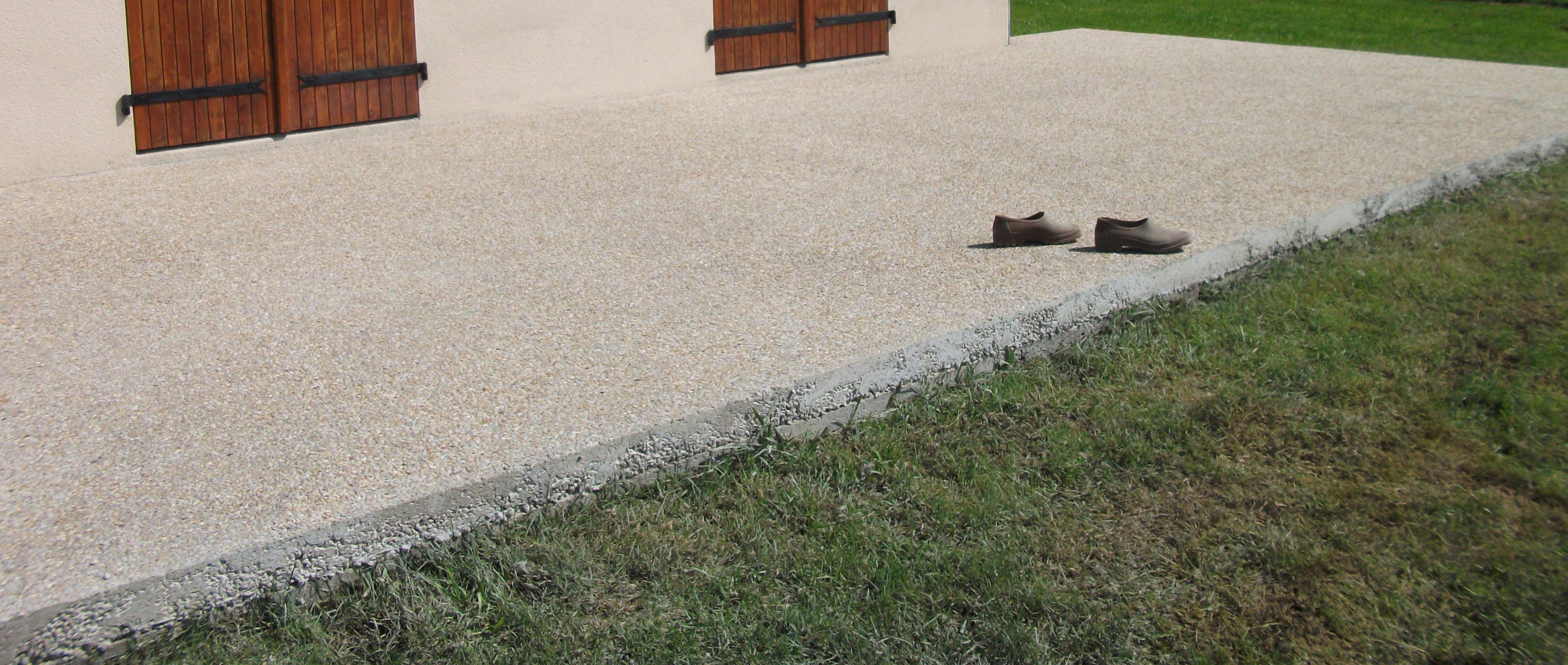 Terrasse beton lavé prix