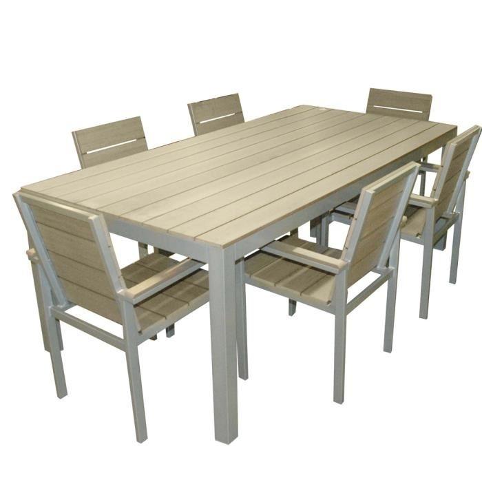 Table de salon de jardin en plastique pas cher - Mailleraye ...