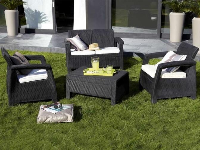 salon de jardin r sine tress e castorama. Black Bedroom Furniture Sets. Home Design Ideas