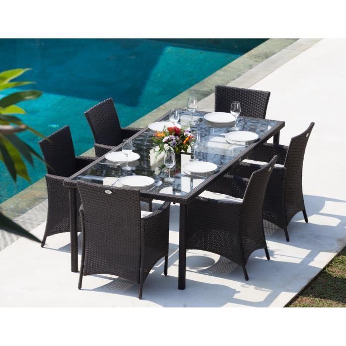 Salon de jardin table haute cdiscount - Mailleraye.fr jardin