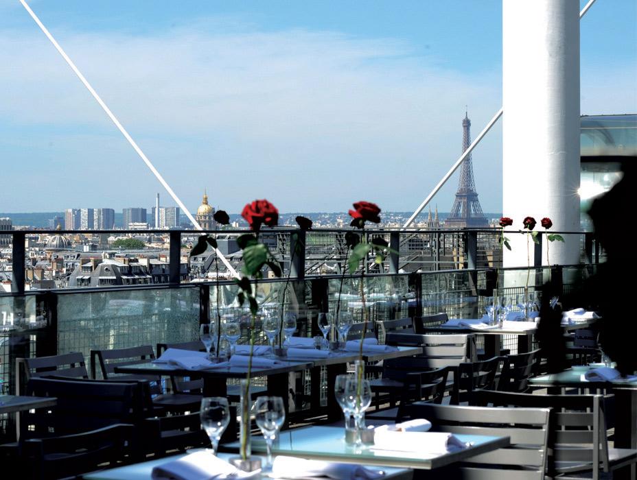 Restaurant georges paris terrasse