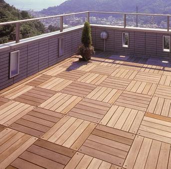 Terrasse bois caillebotis pose