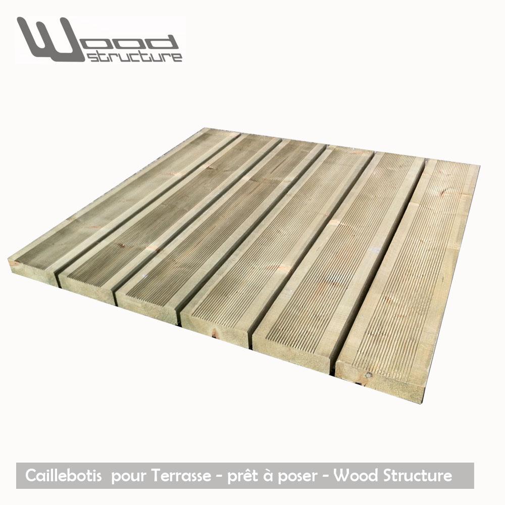 Caillebotis bois terrasse weldom