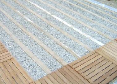 Terrasse caillebotis sur dalle beton