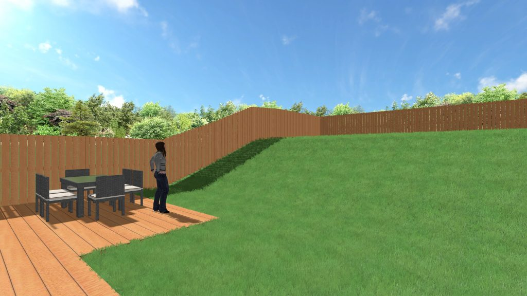 Terrassement jardin en pente avant apres