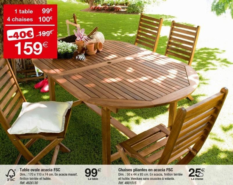 Salon de jardin table et chaises carrefour - Mailleraye.fr jardin
