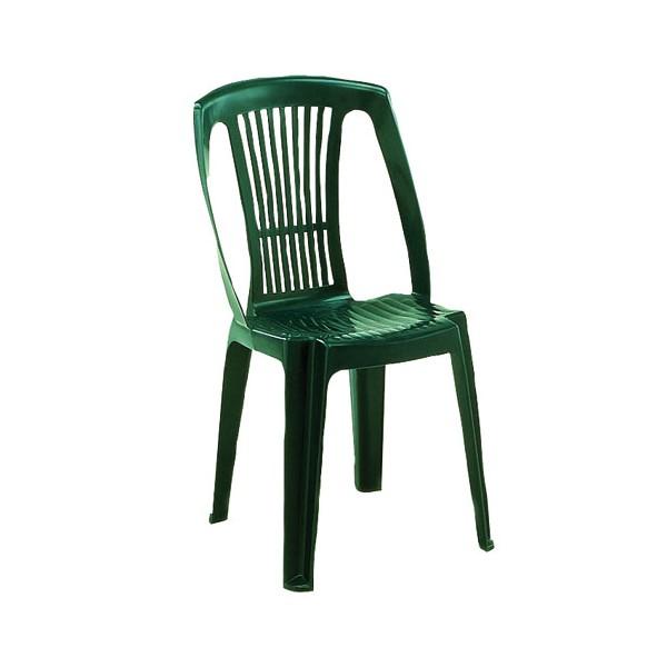 Chaise de salon de jardin en plastique vert