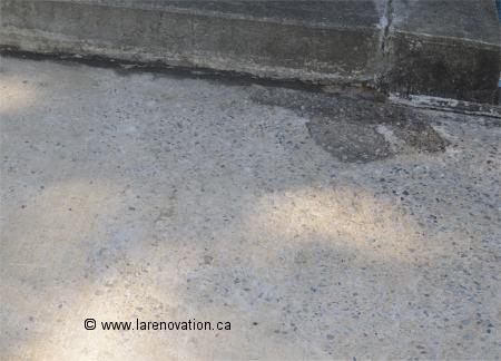 Terrasse beton qui s'effrite