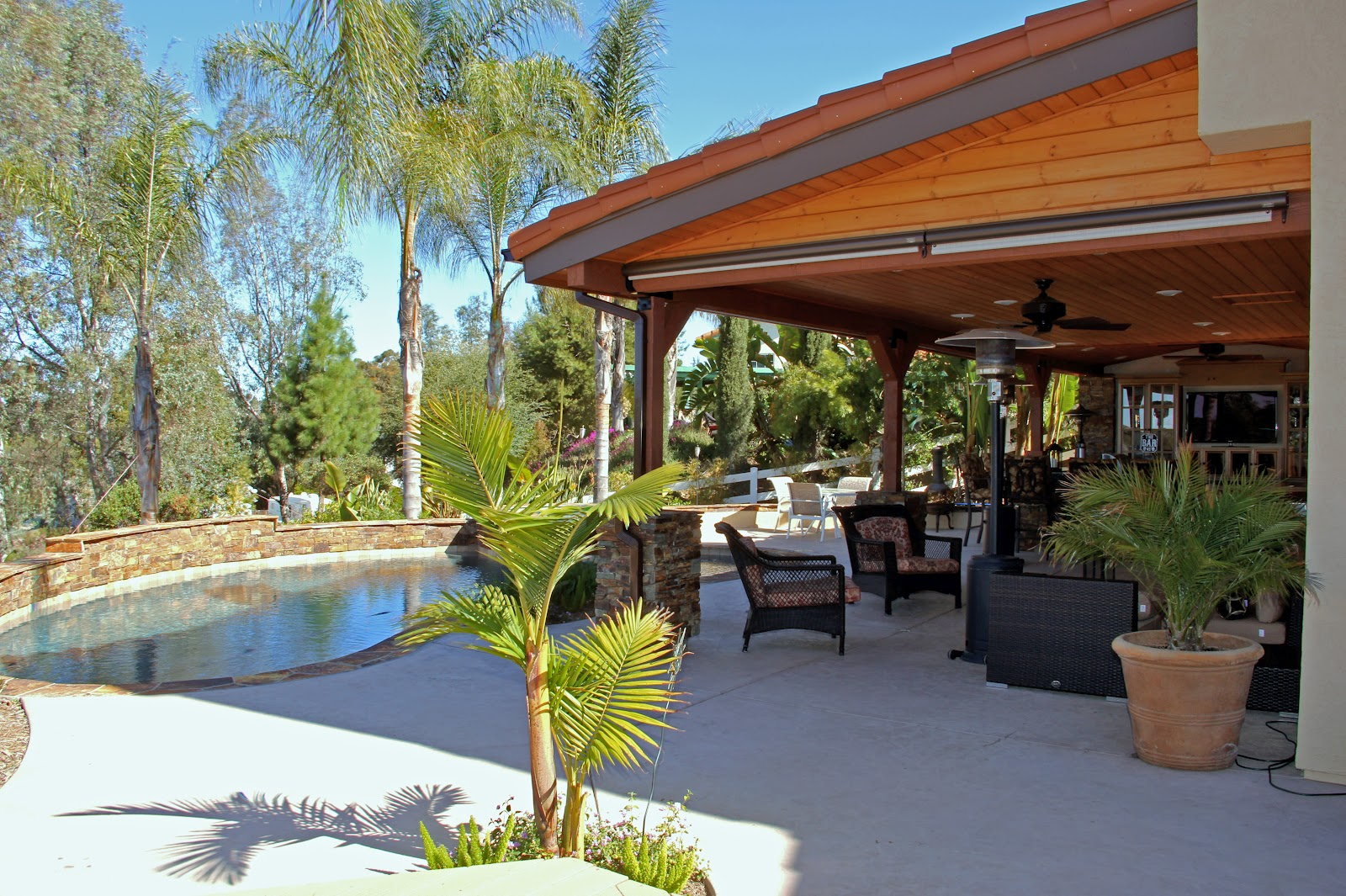 Terrasse couverte modele - Mailleraye.fr jardin