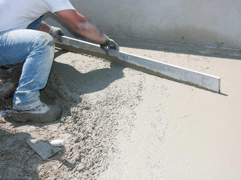 Terrasse beton fibre synthétique