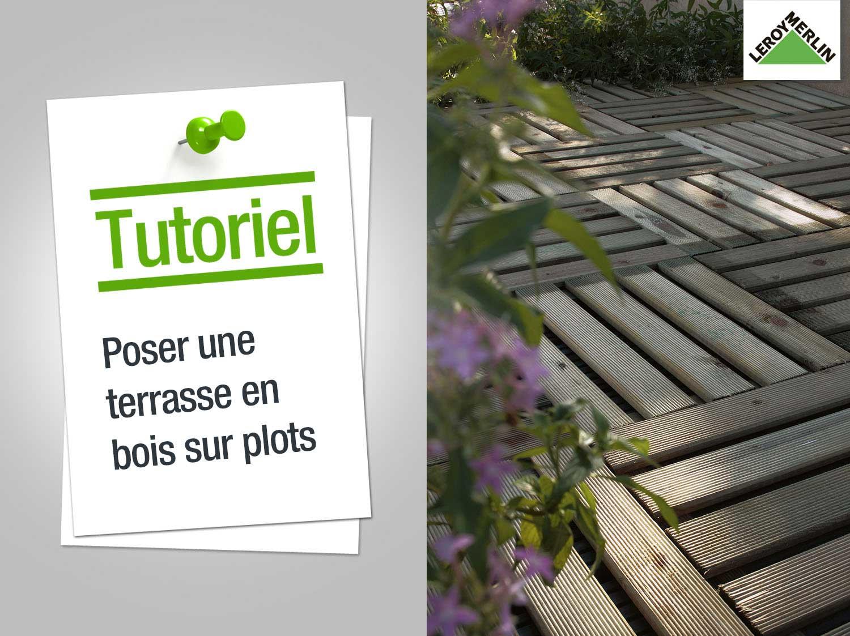 Realisation terrasse bois sur plot beton