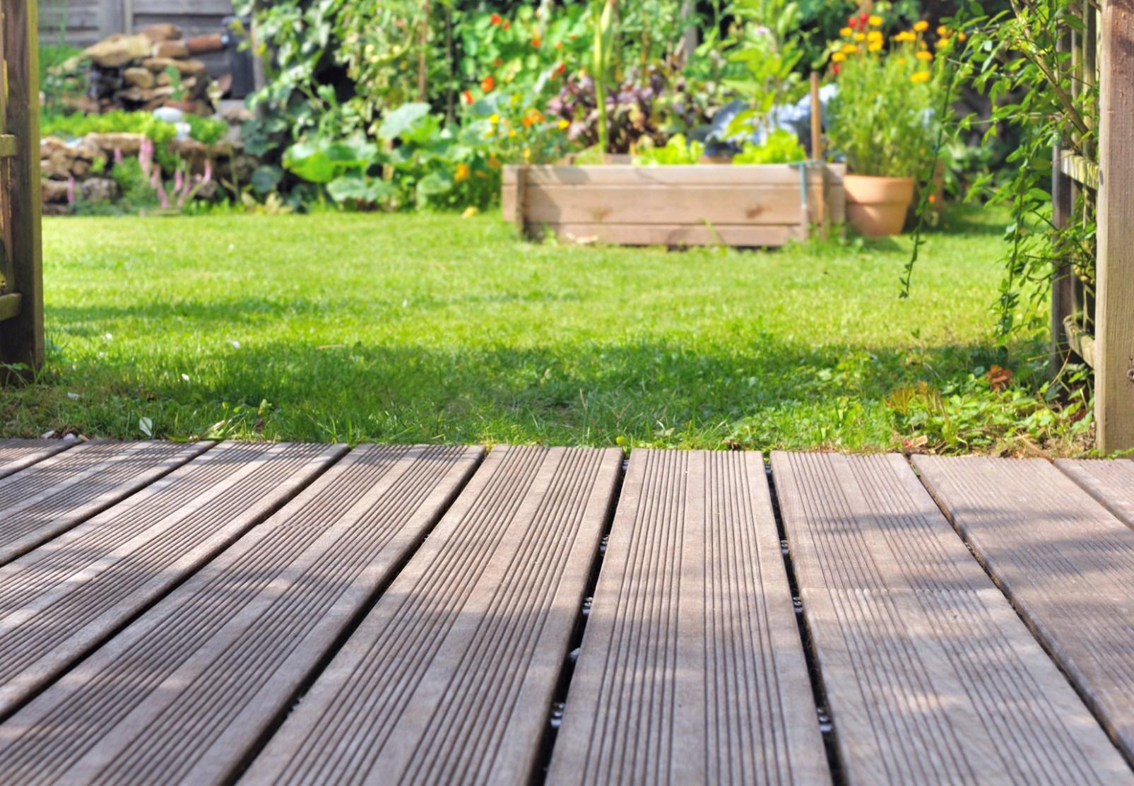 Nettoyer terrasse beton verte