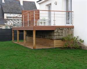 Terrasse bois composite en hauteur