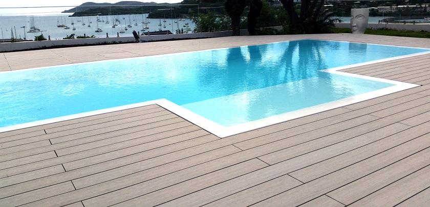 Terrasse composite sans joint