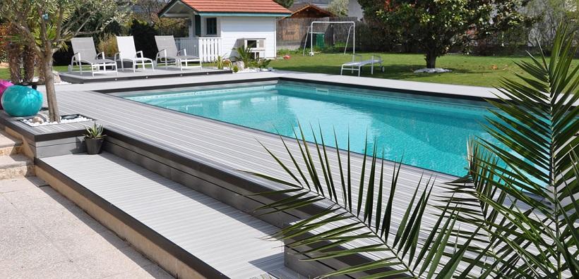 Terrasse avec piscine design
