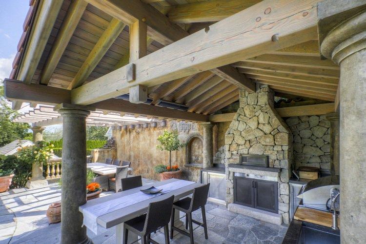 Terrasse couverte aménagée - Mailleraye.fr jardin
