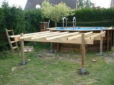 Construire terrasse autour piscine hors sol