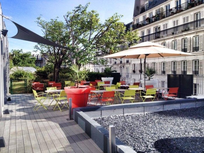 La terrasse montmartre hotel rooftop